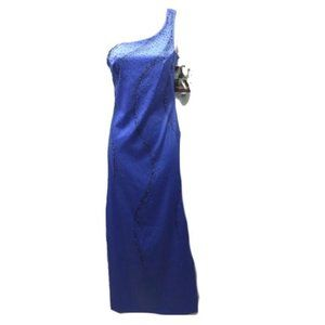 Rampage Purple Formal Gown One Shoulder Size 3 NWT